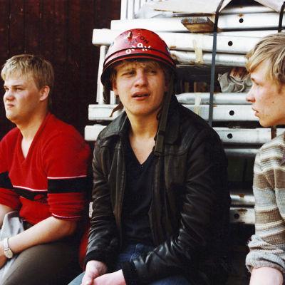 Tero Niva, Timo Torikka ja Heikki Paavolainen Ajolähdössä.