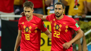 Adnan Januzaj och Nacer Chadli spelade för Belgien mot England.