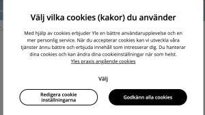 Cookies på Svenska.yle.fi