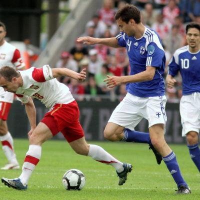 Tim Sparv under Finland-Polen i Kelce 29.5.2010.