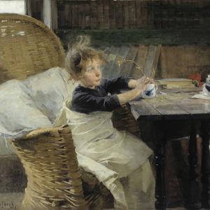 Helene Schjerfbecks målning Konvalecenten, 1888