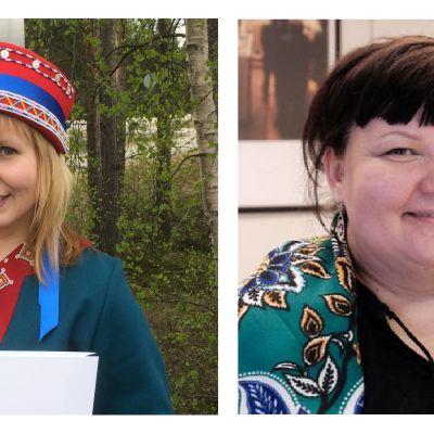 Anna Lumisalmi ja Hanna-Maaria Kiprianoff osallistuvat saamelaisalueen koulutuskeskuksen musiikkikoulutukseen syksyllä 2015.