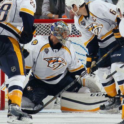 Nashville Predators målvakt Pekka Rinne.