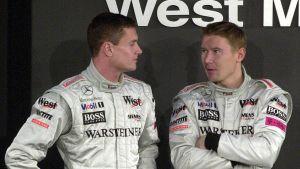 David Coulthard och Mika Häkkinen.