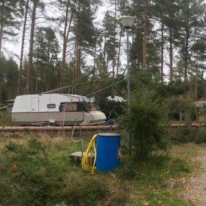 Husvagnsområdet i Fäboda  i Jakobstad.