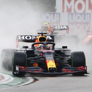 Lewis Hamilton och Max Verstappen.