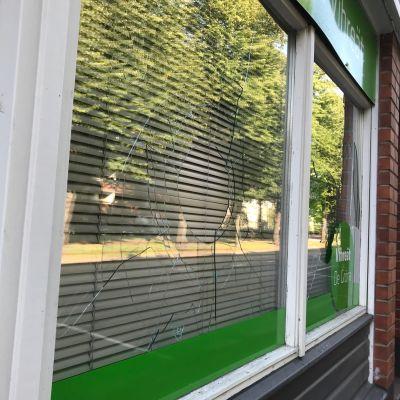 Vihreiden puoluetoimsiton rikottu ikkuna