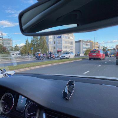Autoilija törmäsi potkulautailevaan lapseen Rovaniemellä 14. syyskuuta.