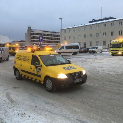Operaatio Lumihiutaleen Pohjois-Suomen yhteislähtö Kemistä.