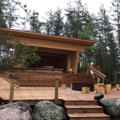 Norppapolulle rakennettu uusi laavu Puumalan kunnassa.