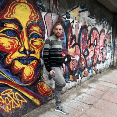 Tero Taskinen Montevideon kadulla.
