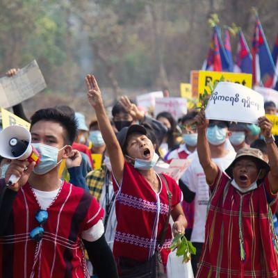 Protesterna mot militärjuntan har varit särskilt utbredda i Karen-staten, som länge har eftersträvat större självstyre.
