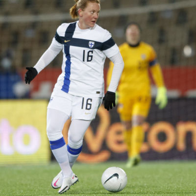 Anna Westerlund i landslagströjan.