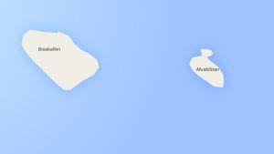 Skärmdump på Borgås öar Musblötan och Bisballen
