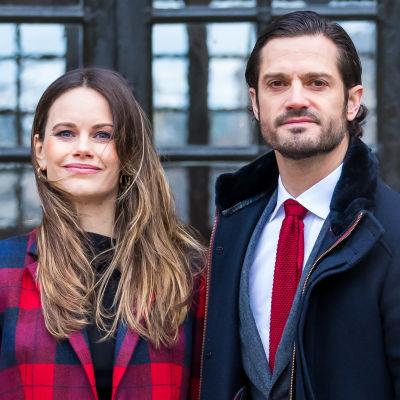 Prins Carl Philip och prinsessan Sofia den 16 december 2020.