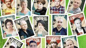 """Författarna som medverkar i antologin """"En i laget""""."""