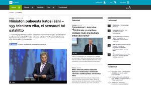Kuvakaappaus Yle Uutisten jutusta