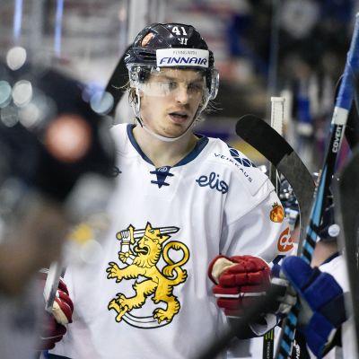 Antti Pihlström teki Suomen toisen maalin Slovakiaa vastaan.