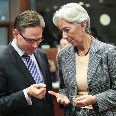Jyrki Katainen ja Christine Lagarde.