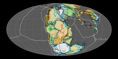 Den förhistoriska superkontinenten Pangaea.