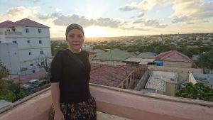 Liselott Lindström i Mogadishu.