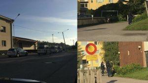 Stort polispådrag i Hangö den 23 juni 2016.