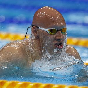 Matti Mattsson simmar i försöken på 200 meter bröst.