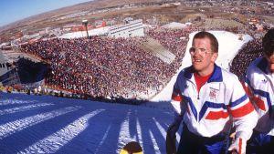 Eddie Edwards i OS i Calgary 1988.