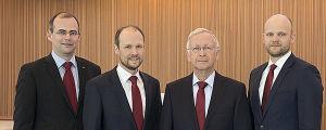 Meyerin toimitusjohtajat Thomas Weigened (vas.), Jan Meyer, Bernard Meyer ja Tim Meyer.