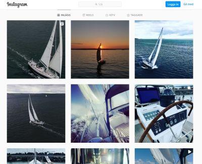 Skärmdump från Johan Wentzels Instagram-konto med bilder av hans segelbåt.