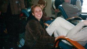 Eva Wahlström som tonåring i Lovisa.