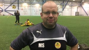 IK Myrans tränare Magnus Slotte.