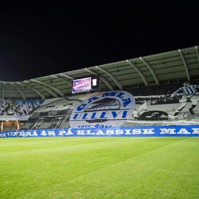 Bild på Gamla Ullevi inför matchen IFK Göteborg–AIK i oktober 2016.