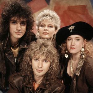 Vuoden 1990 viisuedustaja Beat eli Kim Engblom, Janne Engblom, Tina Krause ja Tina Pettersson