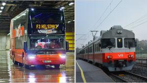 Onnibus och Y-tåget.