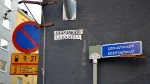gatuskylt på Vasagatan