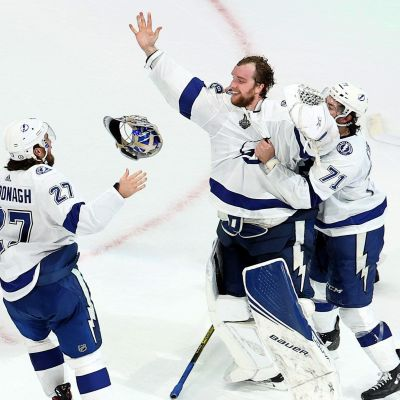 Tampa Bay-spelare firar.