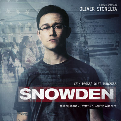 Edward Snowden (Joseph Gordon-Levitt) på planschen till filmen Snowden