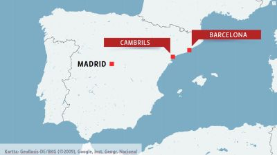 Karta Nordostra Spanien.Fem Misstankta Terrorister Skots Ihjal I Natt Soder Om Barcelona
