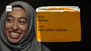 Kuvakaappaus Human-elokuvan ja sen sisältävän Teemalauantain trailerista.