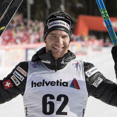 Dario Cologna fick fira i Lenzerheide.