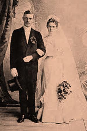 Edvard ja Fanny Gylling 1906.
