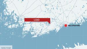 Karta med Lojo.