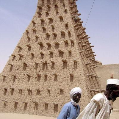 Mausoleum i Timbuktu i Mali som senare revs av islamister år 2012.
