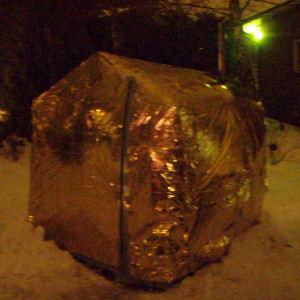 Experimentaali telttasauna urbaanissa ympäristössä