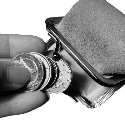 Pengar och en plånbok