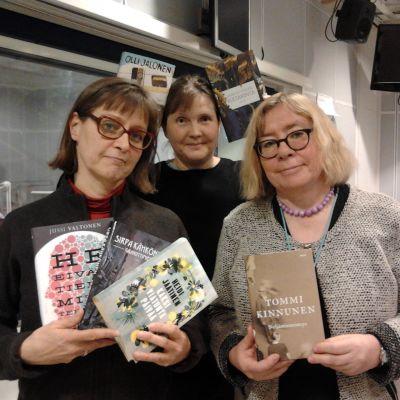 Anna Dönsberg, Marit Lindqvist och Lena Linderborg om Finlandiakandidaterna 2014  i Bokmagasinet