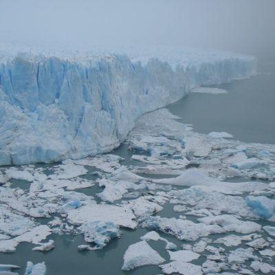En glaciär.
