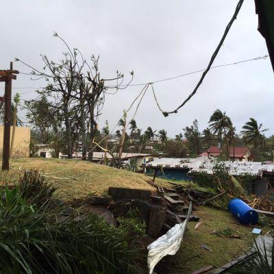 Tropisk cyklon drog fram över Fiji
