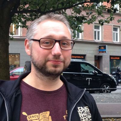 """Kristian Borg är redaktör för boken """"Finnjävlar"""""""